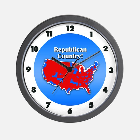 Republican Country Wall Clock