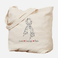 Brain Cancer Love Hope Tote Bag