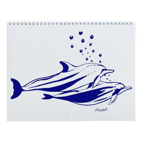 Dolphin World Wall Calendar