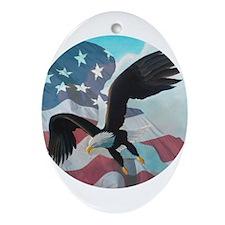 Patriot Eagle Ornament (Oval)