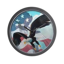 Patriot Eagle Wall Clock