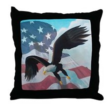 Patriot Eagle Throw Pillow