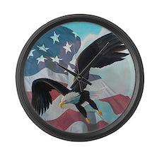 Patriot Eagle Large Wall Clock