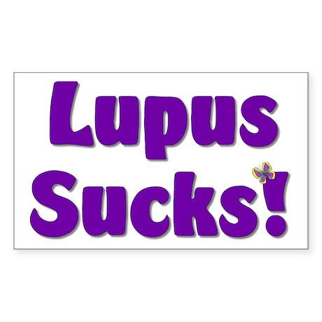 Lupus Sucks! Sticker (Rectangle)