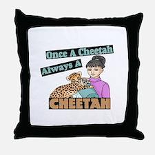 Once A Cheetah Throw Pillow