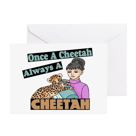 Once A Cheetah Greeting Cards (Pk of 10)