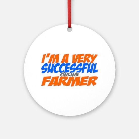 Online Farmer Ornament (Round)