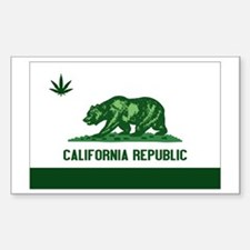 California Weed Flag Decal