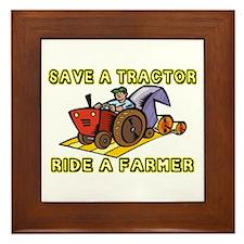 Ride A Farmer Framed Tile