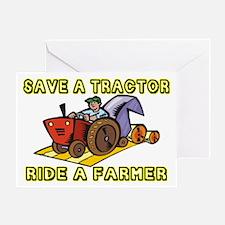 Ride A Farmer Greeting Card