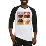 Pop Art Cupcake Baseball Jersey