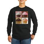 Pop Art Cupcake Long Sleeve Dark T-Shirt