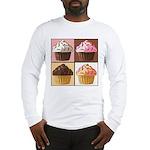 Pop Art Cupcake Long Sleeve T-Shirt