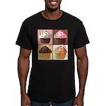 Pop Art Cupcake Men's Fitted T-Shirt (dark)