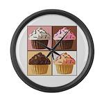 Pop Art Cupcake Large Wall Clock