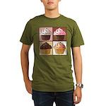 Pop Art Cupcake Organic Men's T-Shirt (dark)