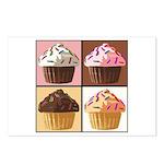 Pop Art Cupcake Postcards (Package of 8)
