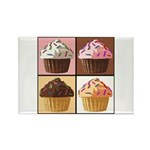 Pop Art Cupcake Rectangle Magnet (10 pack)