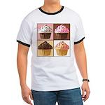 Pop Art Cupcake Ringer T
