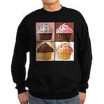 Pop Art Cupcake Sweatshirt (dark)