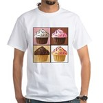 Pop Art Cupcake White T-Shirt