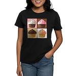 Pop Art Cupcake Women's Dark T-Shirt
