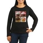 Pop Art Cupcake Women's Long Sleeve Dark T-Shirt