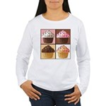 Pop Art Cupcake Women's Long Sleeve T-Shirt