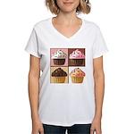 Pop Art Cupcake Women's V-Neck T-Shirt