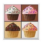 Pop Art Cupcake Tile Coaster