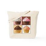 Pop Art Cupcake Tote Bag