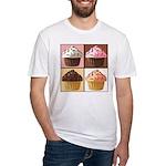 Pop Art Cupcake Fitted T-Shirt