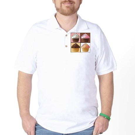 Pop Art Cupcake Golf Shirt