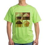 Pop Art Cupcake Green T-Shirt