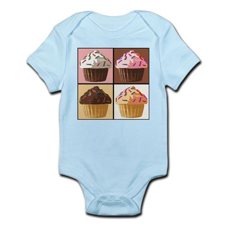 Pop Art Cupcake Infant Bodysuit