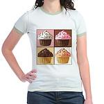 Pop Art Cupcake Jr. Ringer T-Shirt
