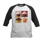 Pop Art Cupcake Kids Baseball Jersey