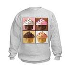 Pop Art Cupcake Kids Sweatshirt