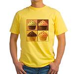 Pop Art Cupcake Yellow T-Shirt