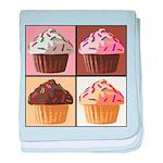 Pop Art Cupcake baby blanket