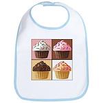 Pop Art Cupcake Bib