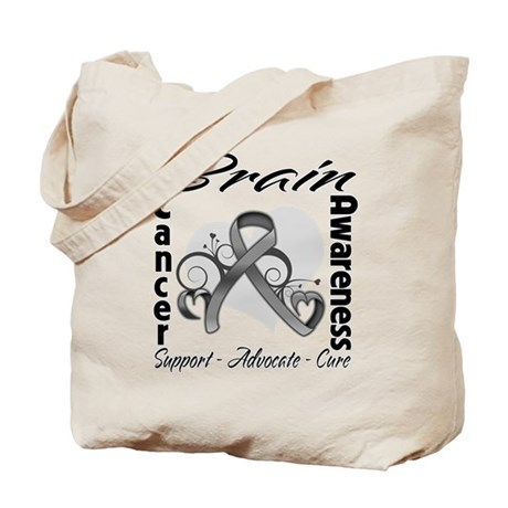 Awareness Brain Cancer Tote Bag