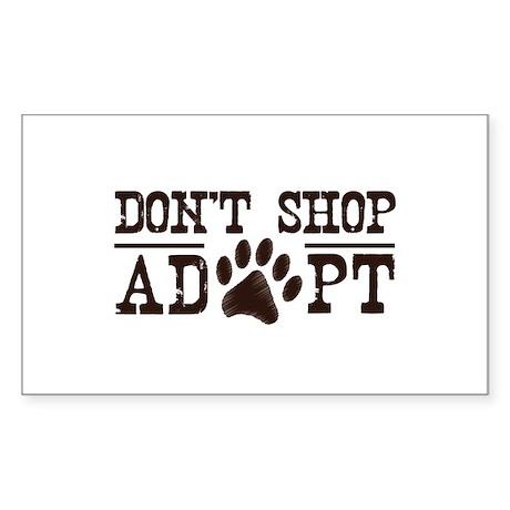 Don't Shop Adopt Sticker (Rectangle 50 pk)