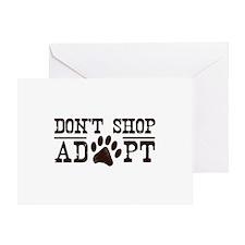 Don't Shop Adopt Greeting Card