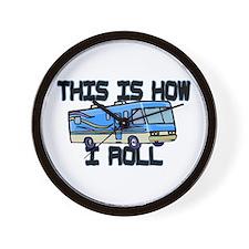 How I Roll RV Wall Clock