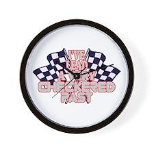 Checkered Past Wall Clock