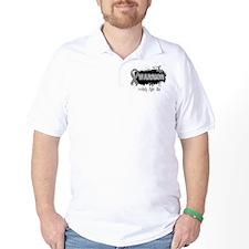Warrior Grunge Brain Cancer T-Shirt