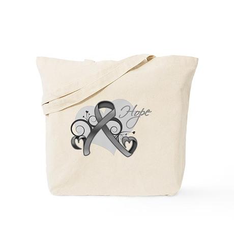Hope Ribbon Brain Cancer Tote Bag
