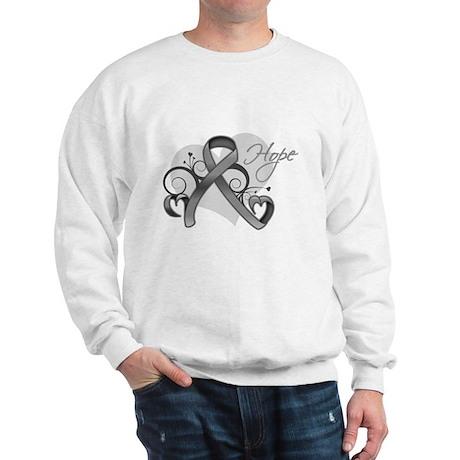 Hope Ribbon Brain Cancer Sweatshirt