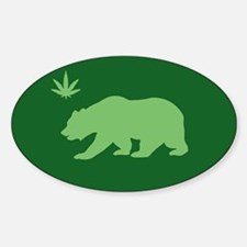 California Weed Flag Sticker (Oval)